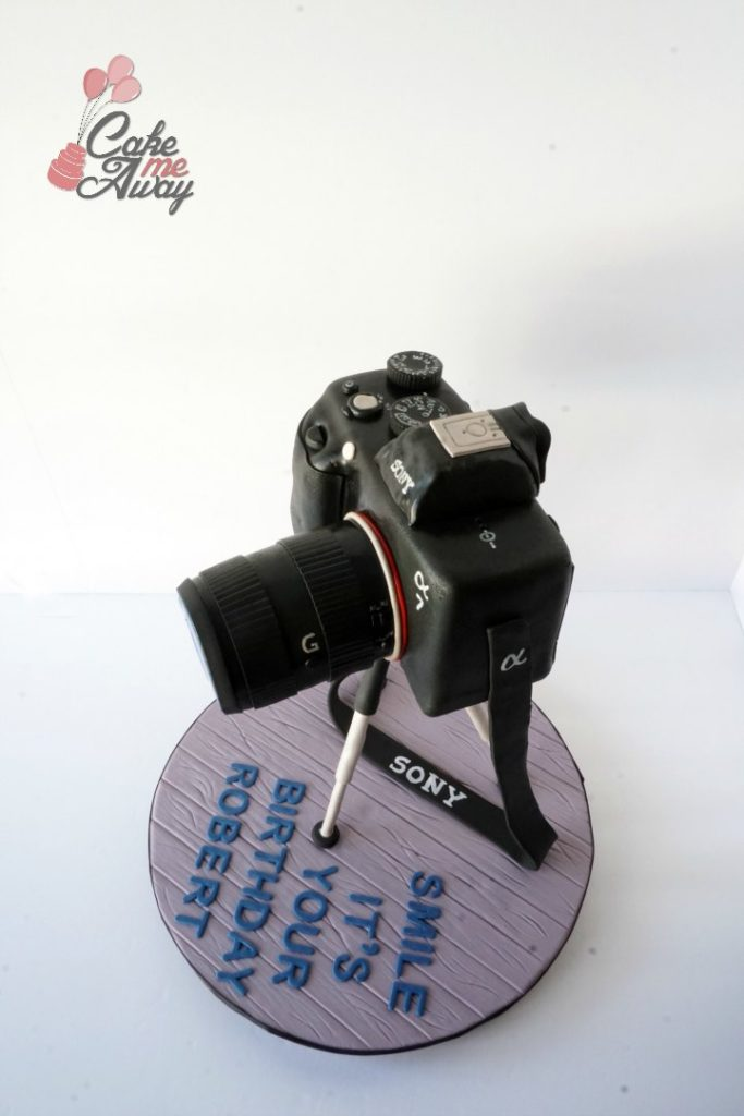 Sony A7 Camera Side Birthday Cake