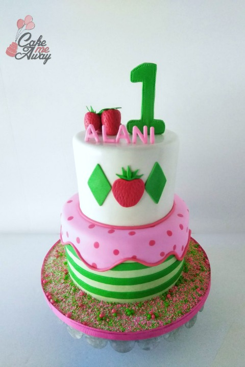 Strawberry Shortcake First Birthday Cake