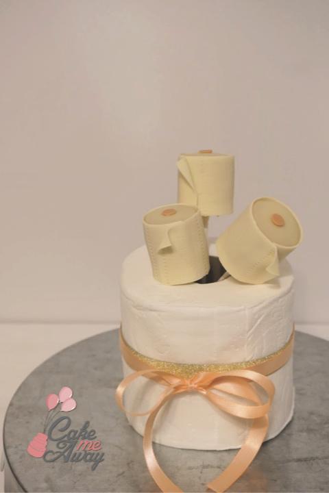Toilet Paper Cake Pops