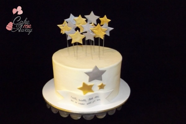 Twinkle Little Star Gender Reveal Baby Shower Cake