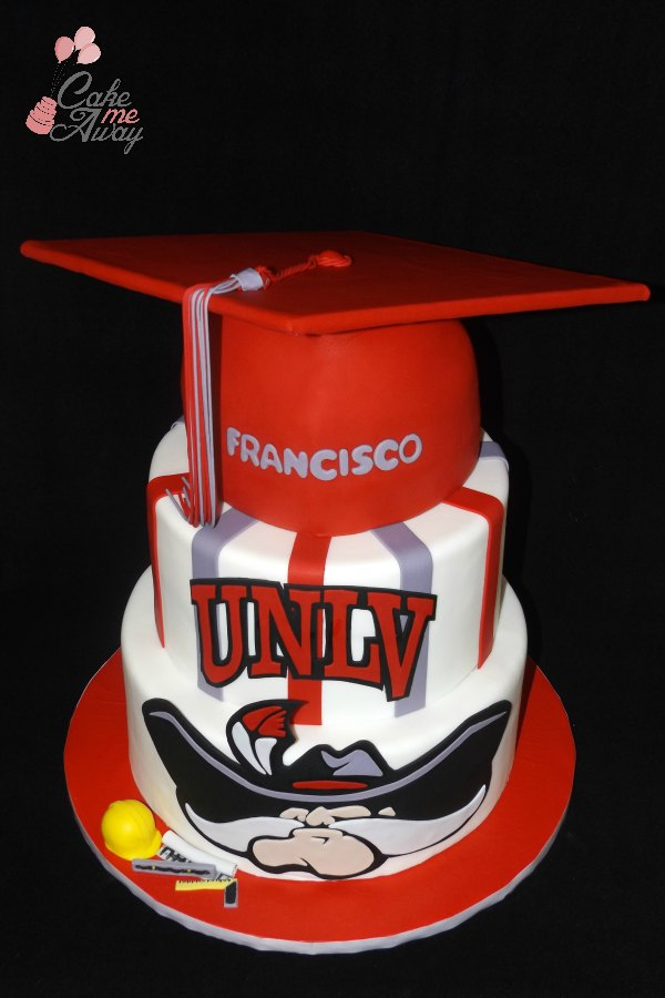 UNLV Graduation Cap Civil Engineer Cake