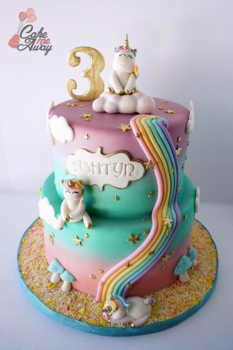 Unicorn Dreamland Birthday Cake