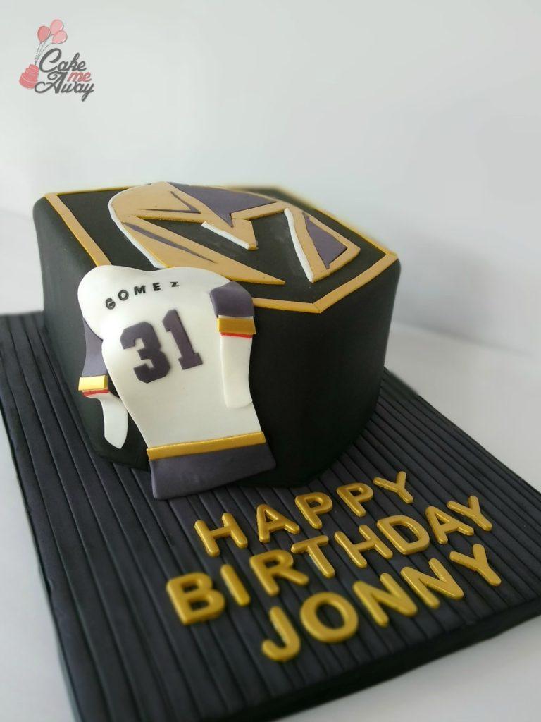 Vegas Golden Knights Birthday Cake
