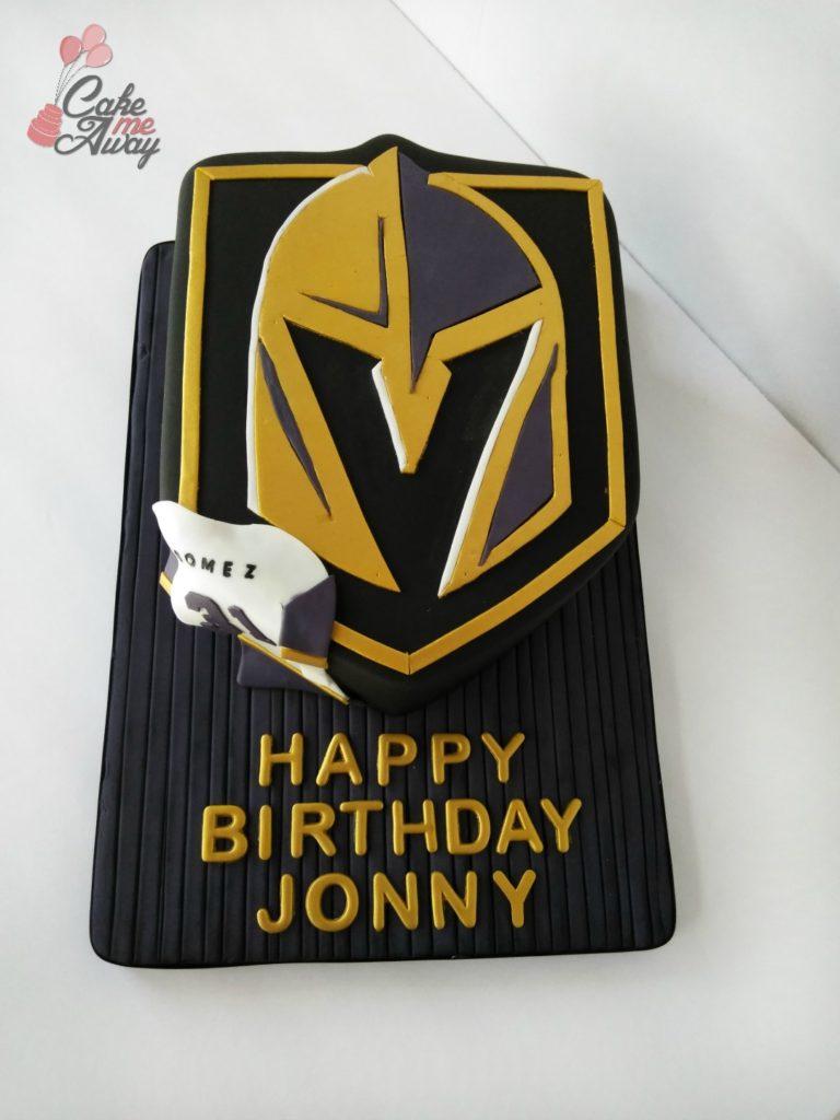 Vegas Golden Knights Hockey Logo Birthday Cake