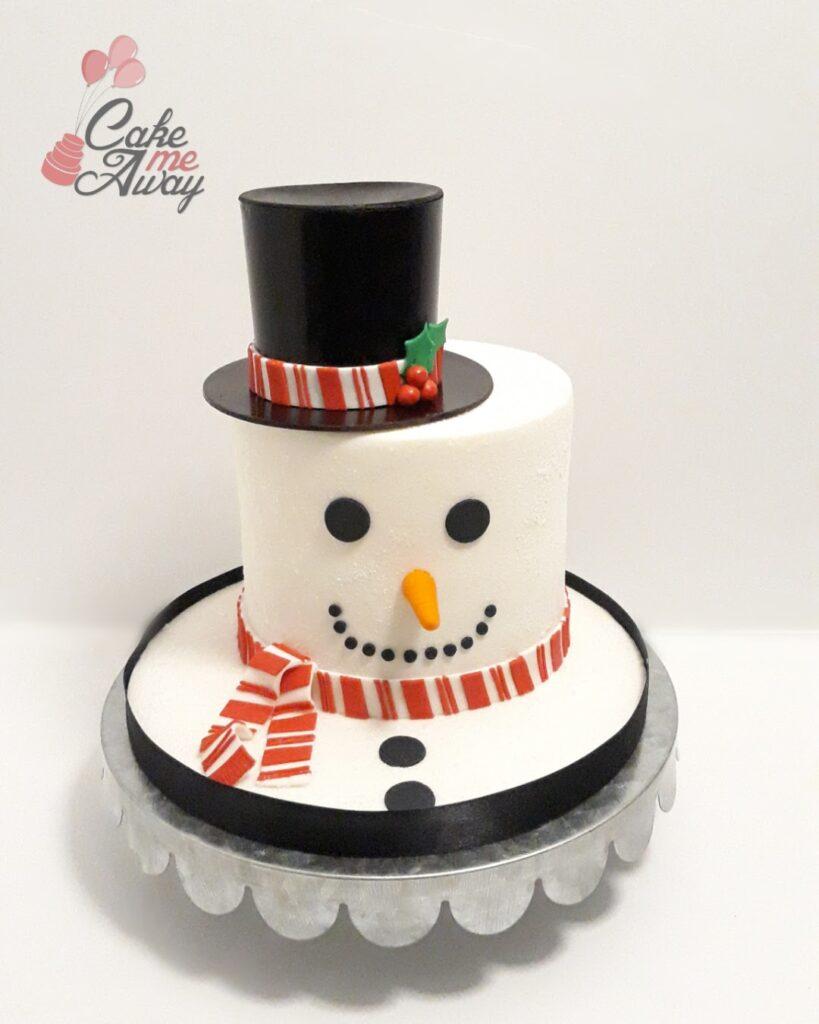 Velvet Snowman Birthday Cake