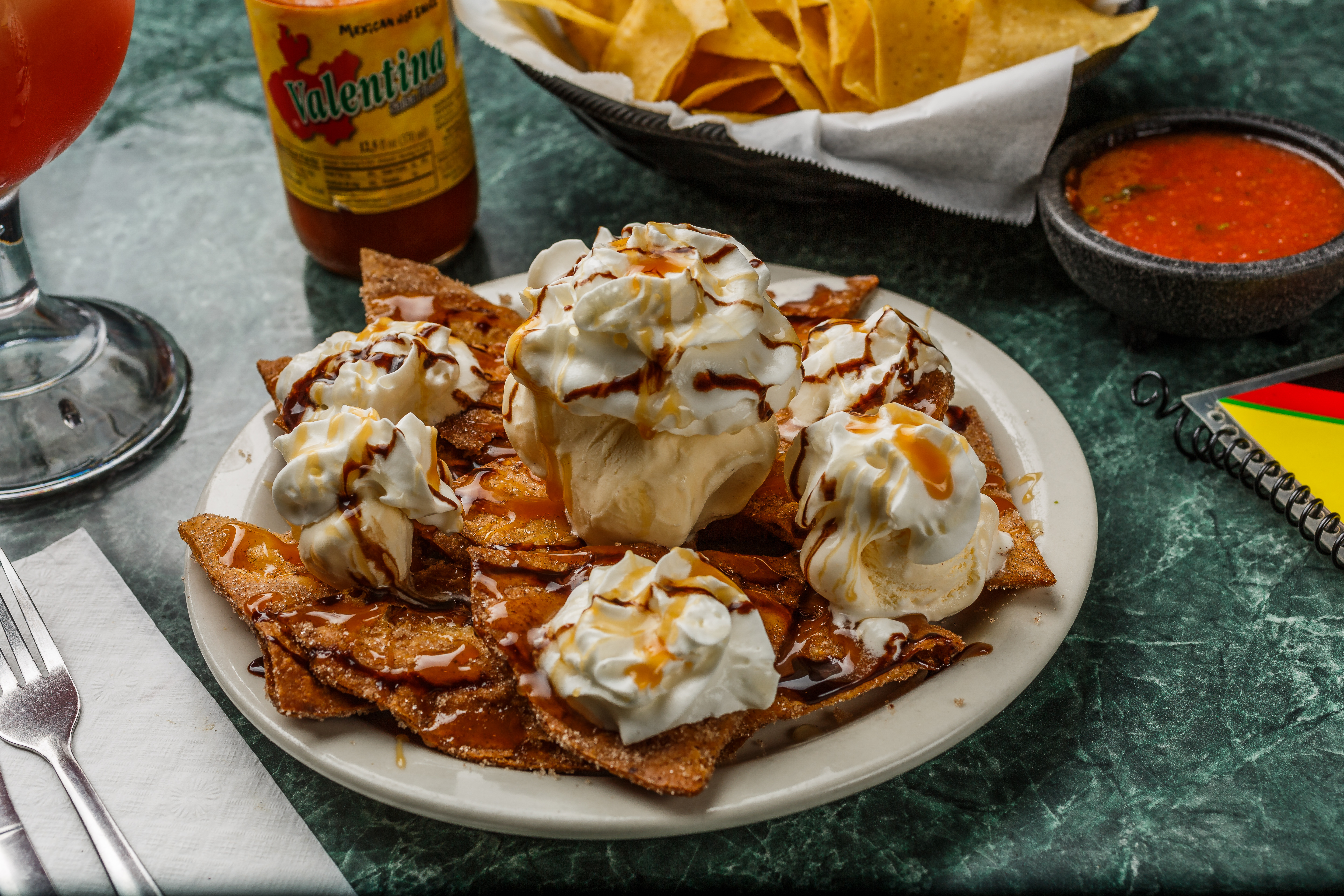 El Sombrero White Cheese Queso Dessert Nachos Longview Texas Mexican Restaurant Food Taco Fajitas