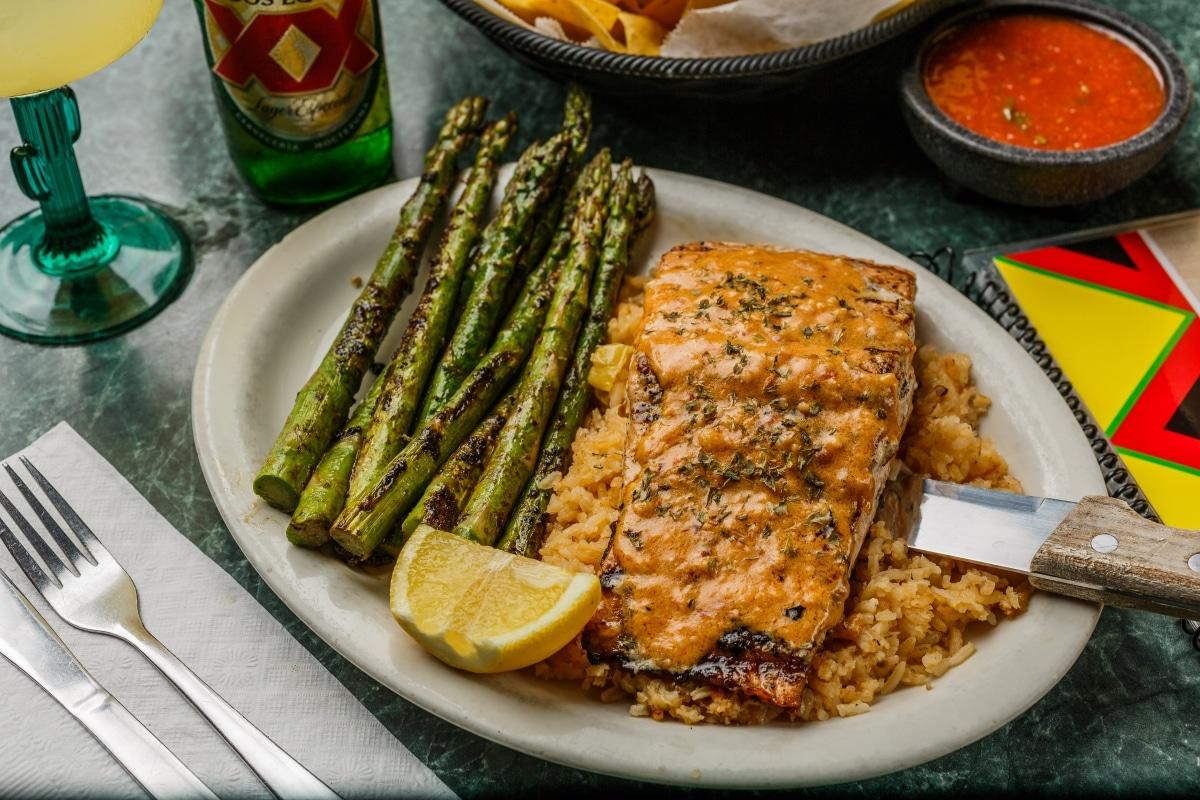 Salmon Diabla Mexican Food Restaurant El Sombrero Longview Kilgore TX