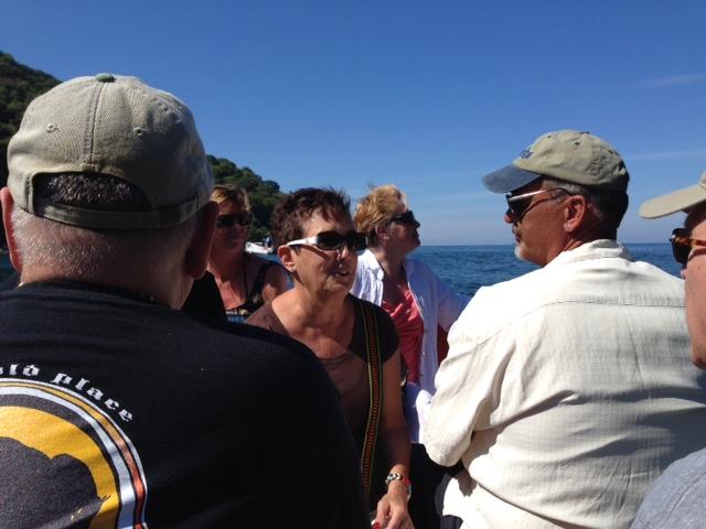 Boca beach boat trip