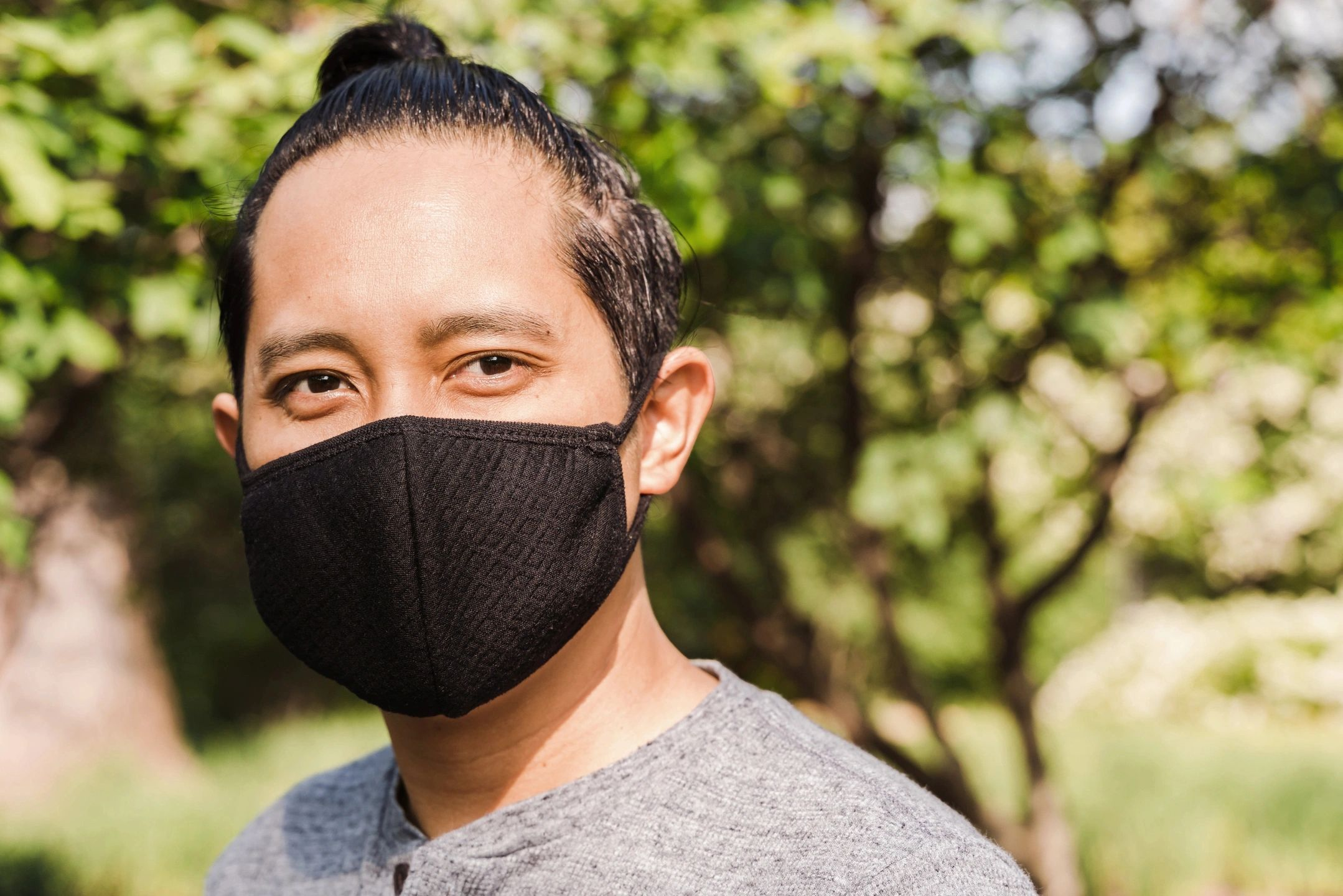man with facemask on
