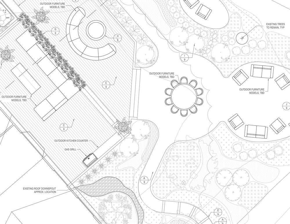 Landscape architect construction drawing