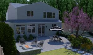 Landscape architect mock up of house
