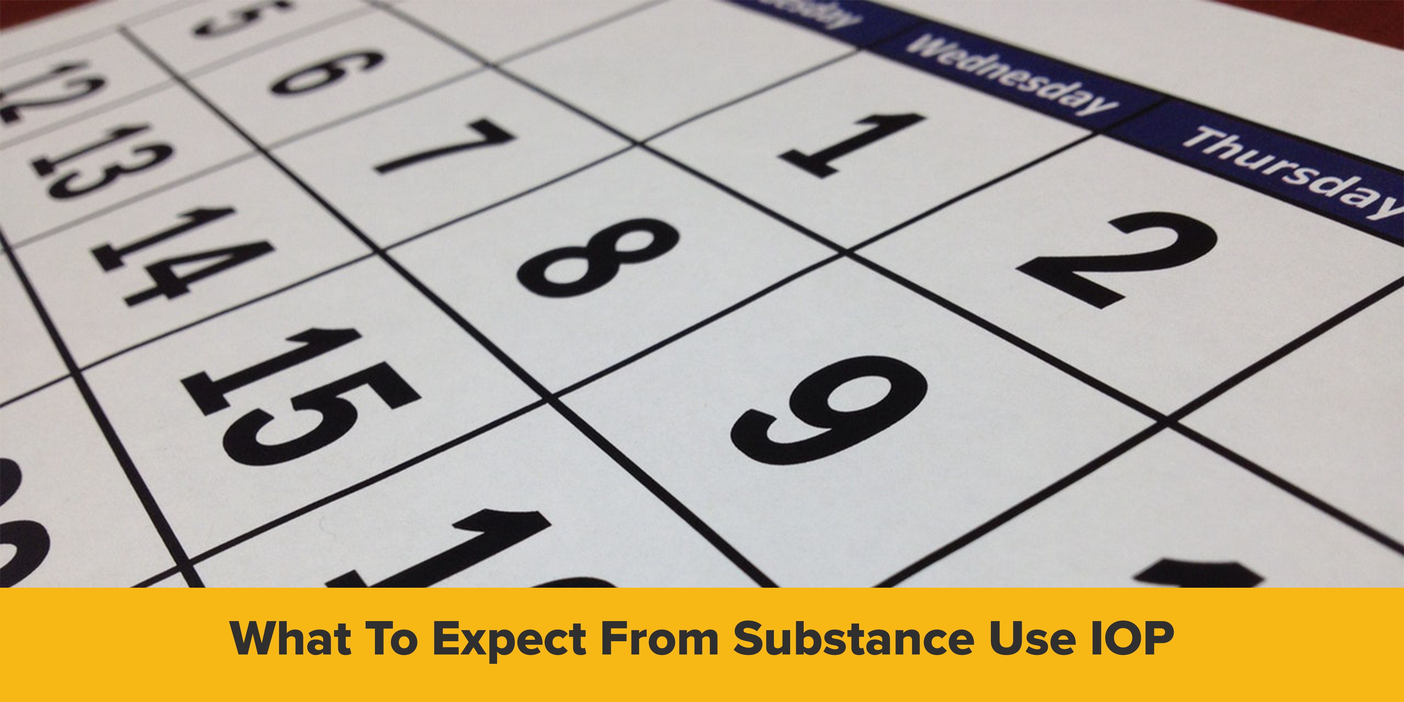 What to expect from substance use iop