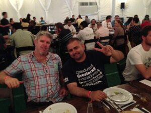 Santa Barbara attendees Kyle Ashby and Jose Huitron
