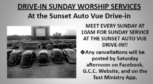 Drive-In Sunday Worship