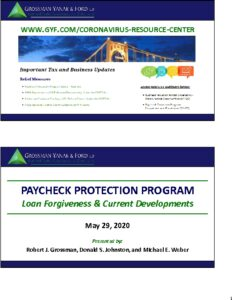 Icon of PPP Part II - Loan Forgiveness & Current Developments (Slides)