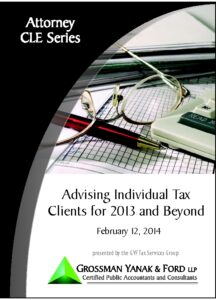 Icon of CLE-Book Advising Tax Clients for 2013 & Beyond