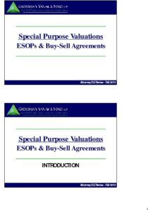 Icon of CLE-Slides ESOPs & Buy/Sell Agreements