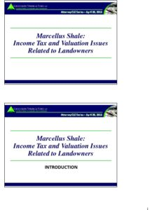 Icon of CLE-Slides Marcellus Shale Issues