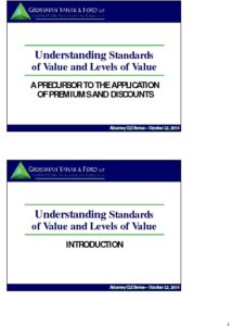 Icon of CLE-Slides Standards and Levels of Value