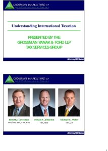 Icon of CLE-Slides International Taxation
