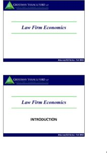 Icon of CLE-Slides Law Firm Economics