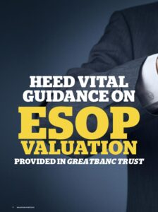 Icon of Heed GreatBanc Guidance on ESOP Valuations