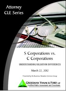 Icon of CLE-Book S vs. C Corp Valuation Differences