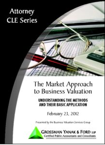Icon of CLE-Book Market Approach to Valuation