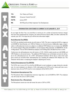 Icon of Tax Alert 1-19 Payroll Update