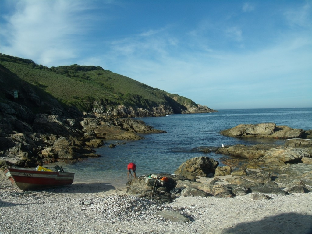Praia da Capelinha, local de desembarque de visitantes. (Foto: João Henrique | Maricá Info)