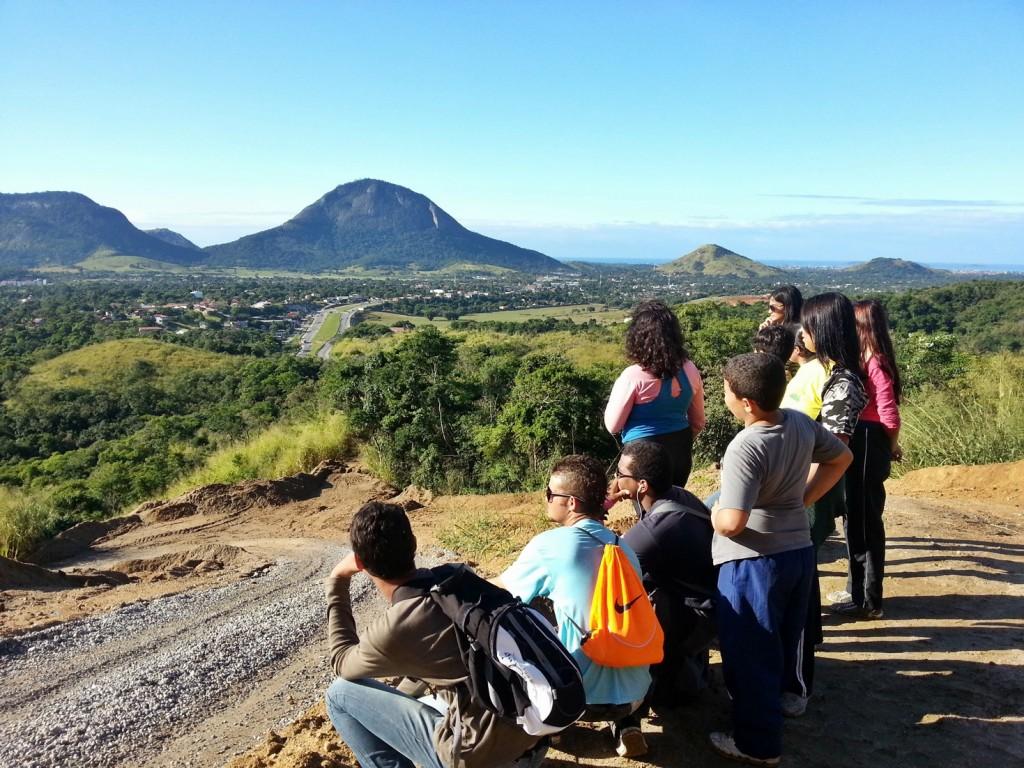 Vista de cima da Gruta do Spar. (Foto: Divulgação)