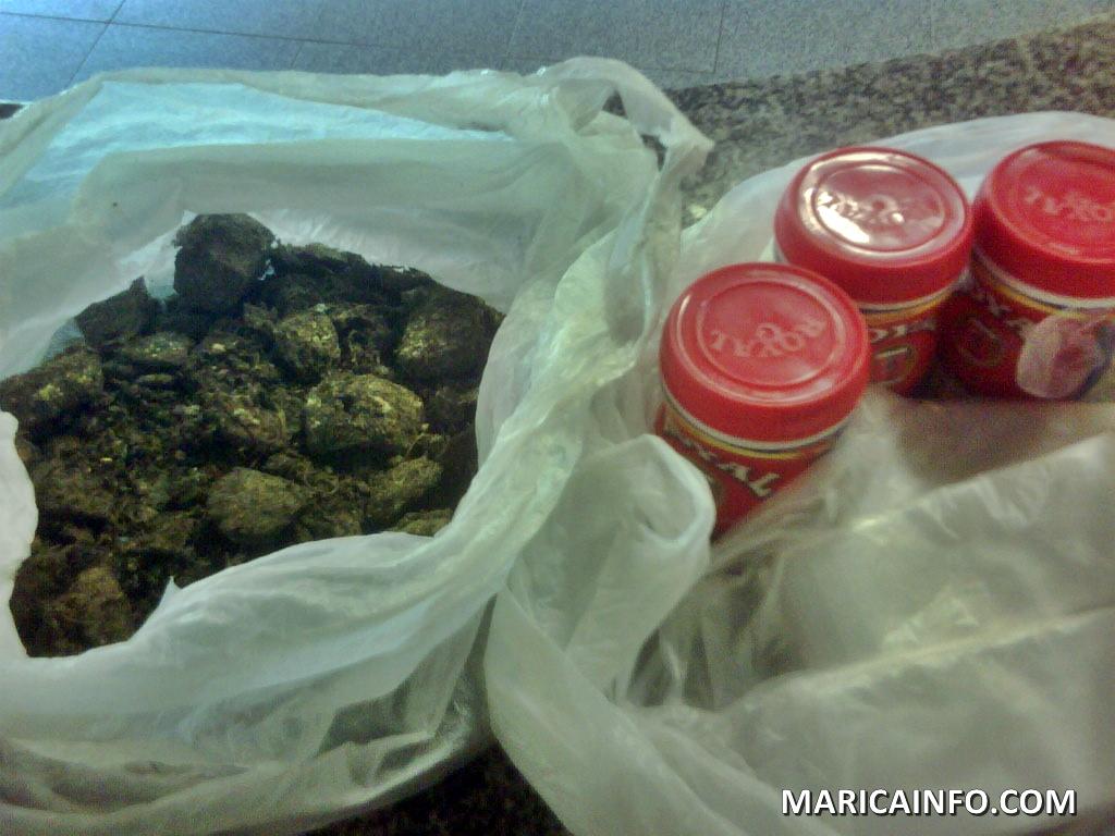 Polícia Militar apreende grande quantidade de drogas no Cocadinha.