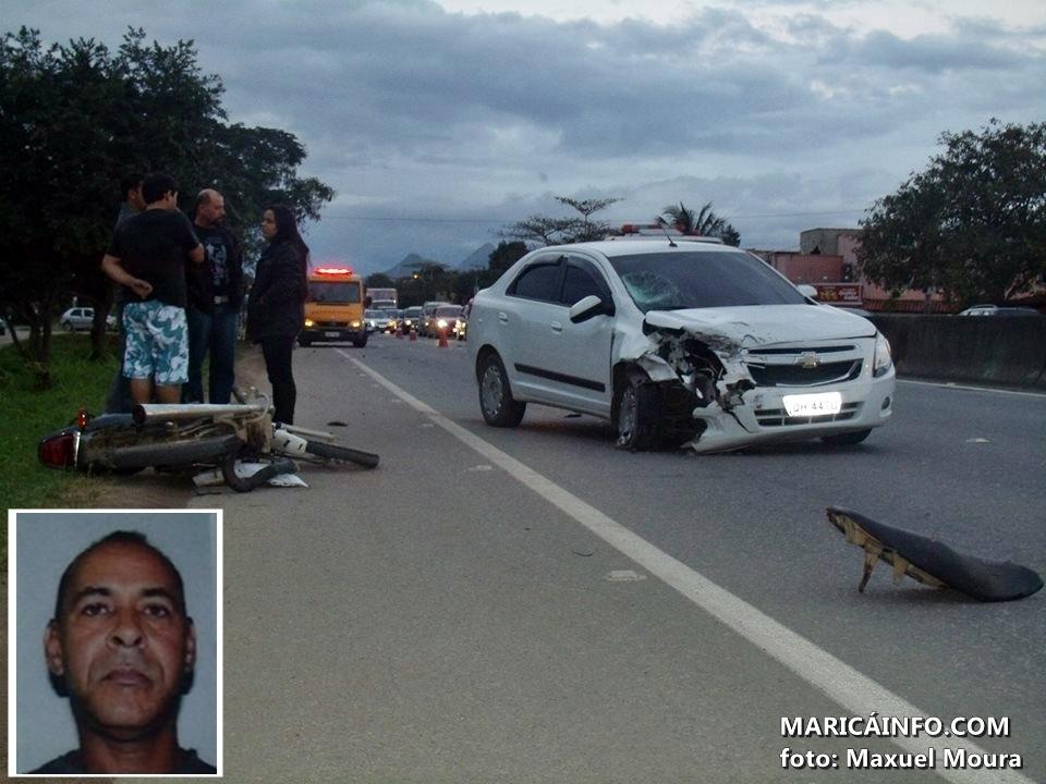Trágico acidente aconteceu na tarde deste domingo (18) na RJ106. (Foto: Maxuel Moura | Maricá Info)