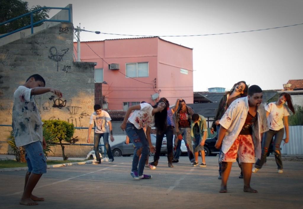 Ataque Apocalipse foi gravado na praça Orlando de Barros Pimentel, no Centro. (Foto: João Henrique | Maricá Info)