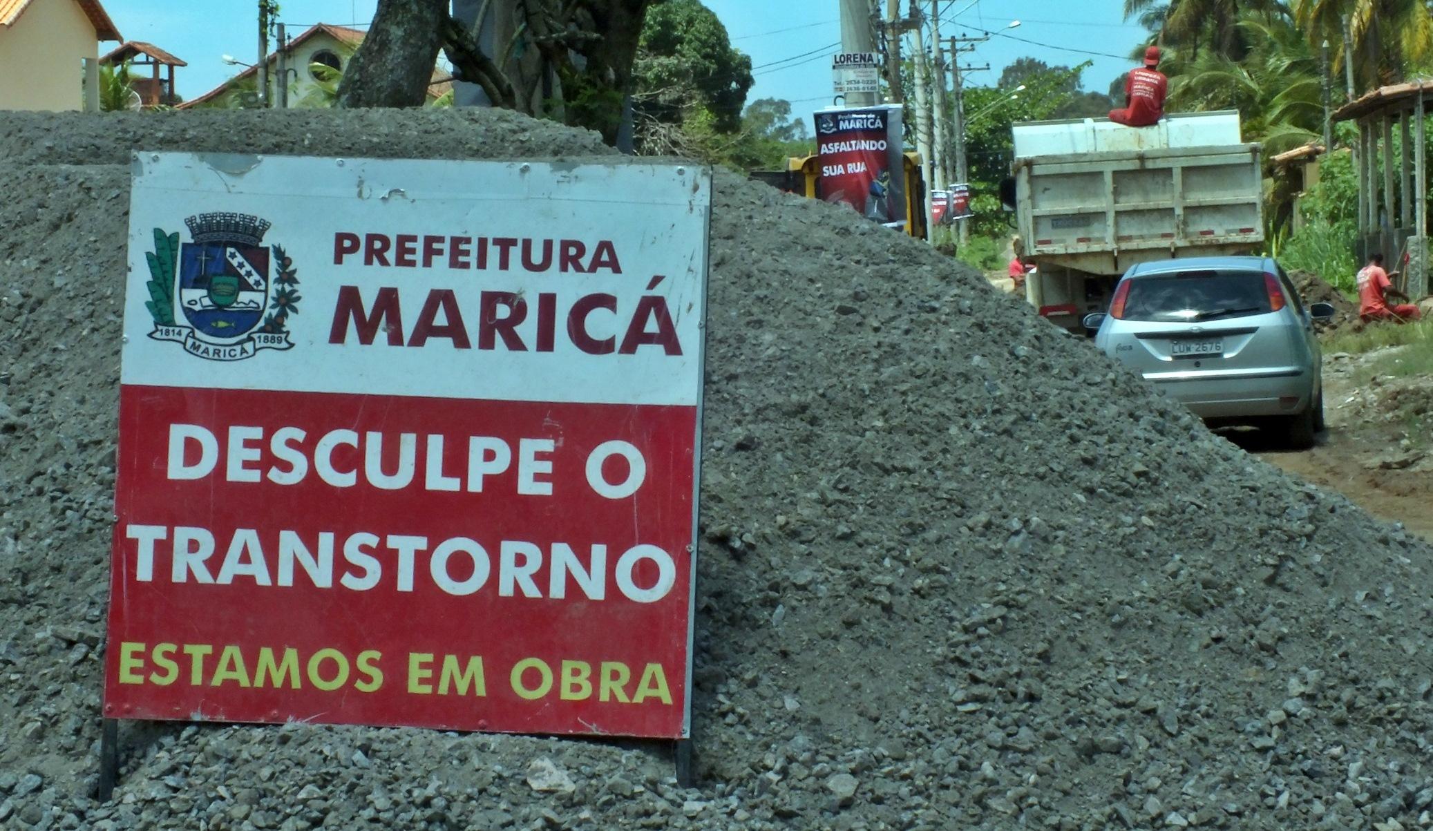 Obras começaram neste sábado (19). (Foto: João Henrique | Maricá Info)