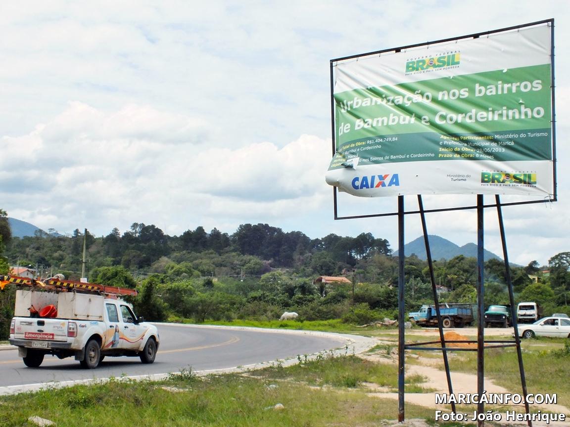 Governo Federal investe mais de R$1,4 milhão na urbanização de Cordeirinho e Bambuí. (Foto: João Henrique | Maricá Info)