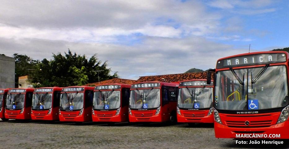 Primeiros dez ônibus da frota municipal já estão em Maricá. (Foto: João Henrique | Maricá Info)
