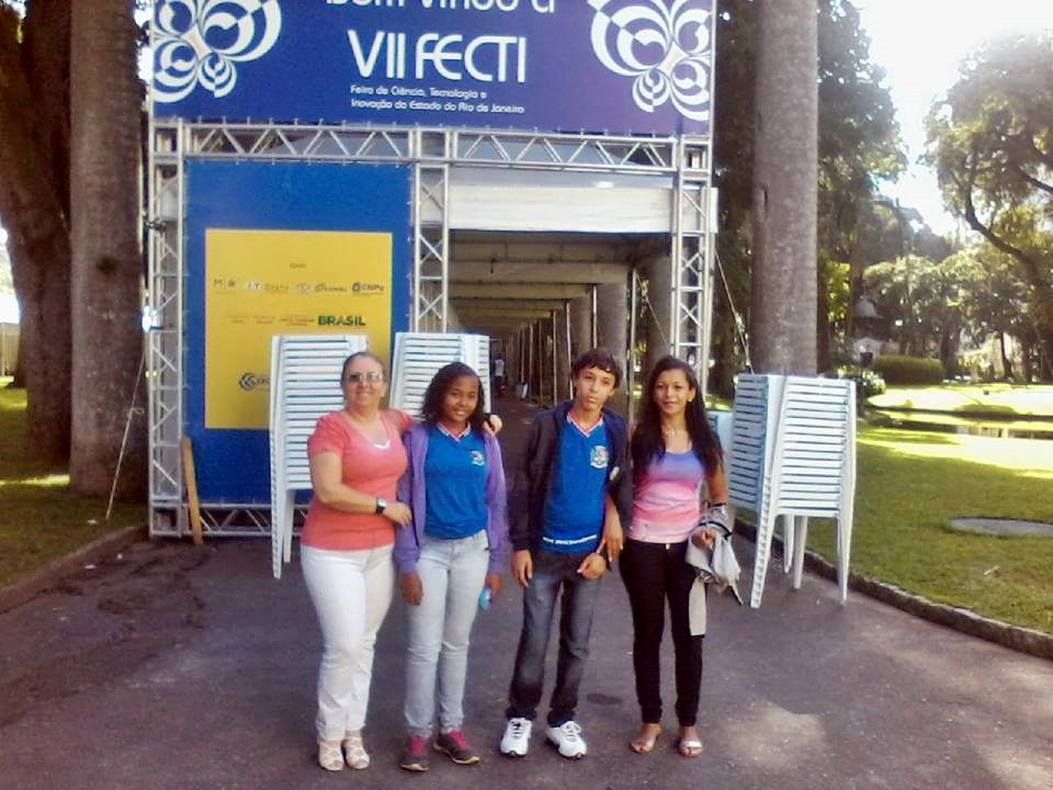 Estudantes de Maricá foram acompanhados das suas professoras ao evento.