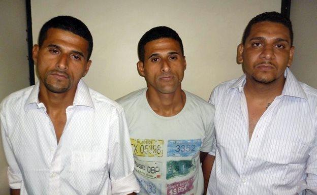 Os três presos já tinham passagem pela polícia. (Foto: Reprodução)