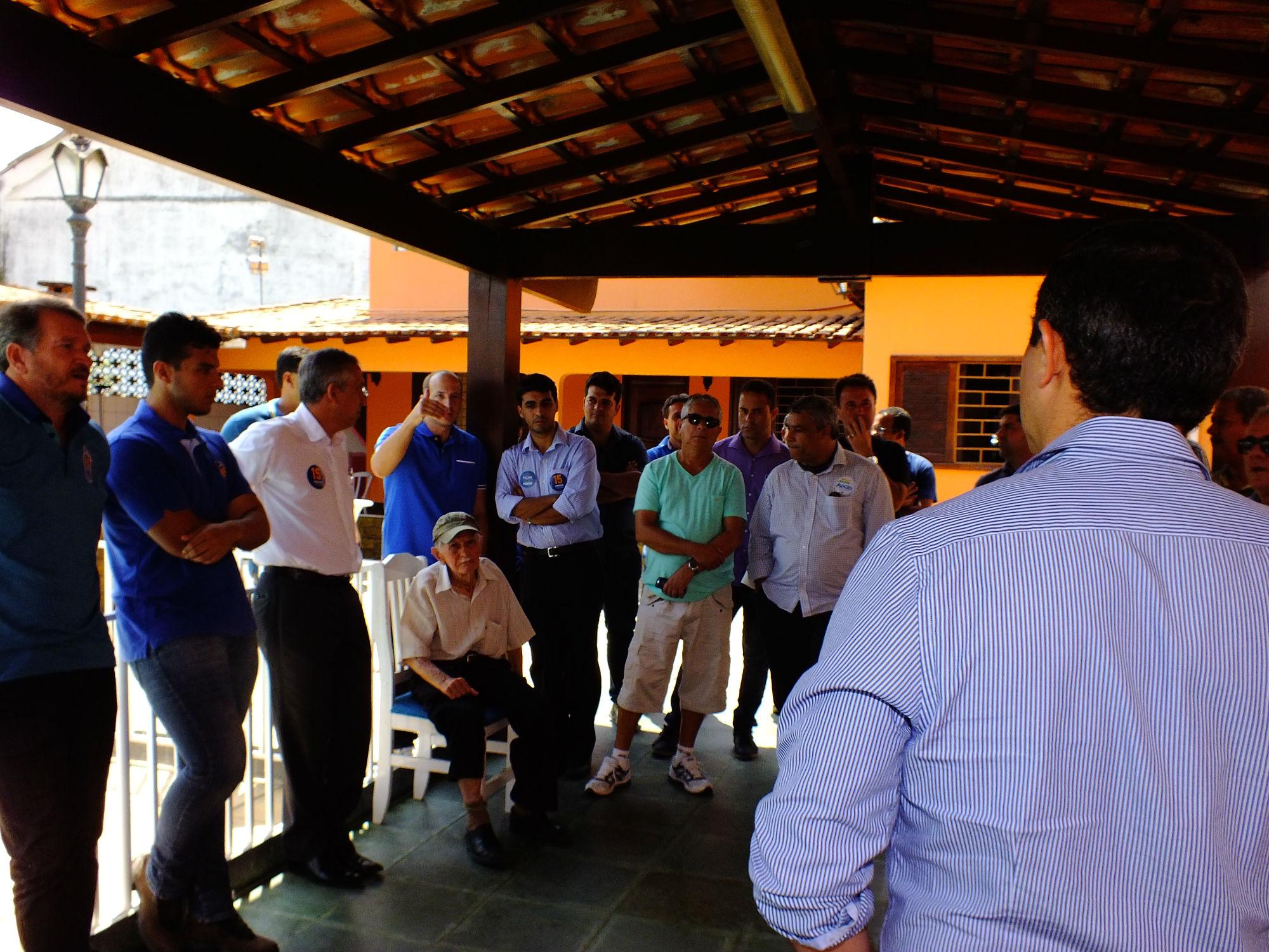Marcelo Delaroli (PR), suplente de Deputado Federal também aderiu a campanha do Pezão. (foto: João Henrique   MaricáInfo.com)