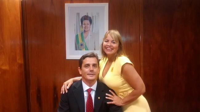 Fabiano Horta (PT) com sua esposa Rosana Horta (PT) na Câmara dos Deputados.