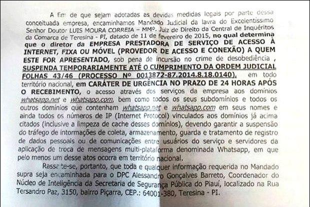 decisão suspensão whatsapp no brasil