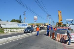 Avenida Vereador Francisco Sabino da Costa será fechada integralmente nesta sexta-feira para duplicação da ponte.