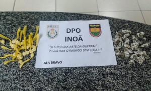 Jovem vendia maconha e cocaína em Inoã. (foto: Mauro Luis / Maricá Info)