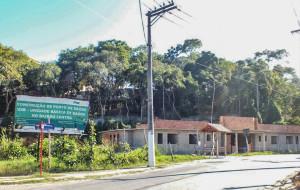 No Centro, obras de posto de saúde paradas. (foto: João Henrique / Maricá Info)