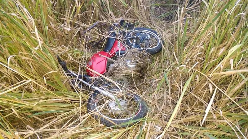 Acidente de moto vitimizou jovem de 19 anos.