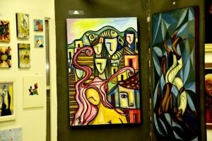 Salão de Belas Artes conta com obras de artistas de Maricá. (fotos: Fernando Silva)