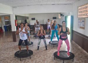 Aulas de Jump com Monalissa. Fotos: Divulgação