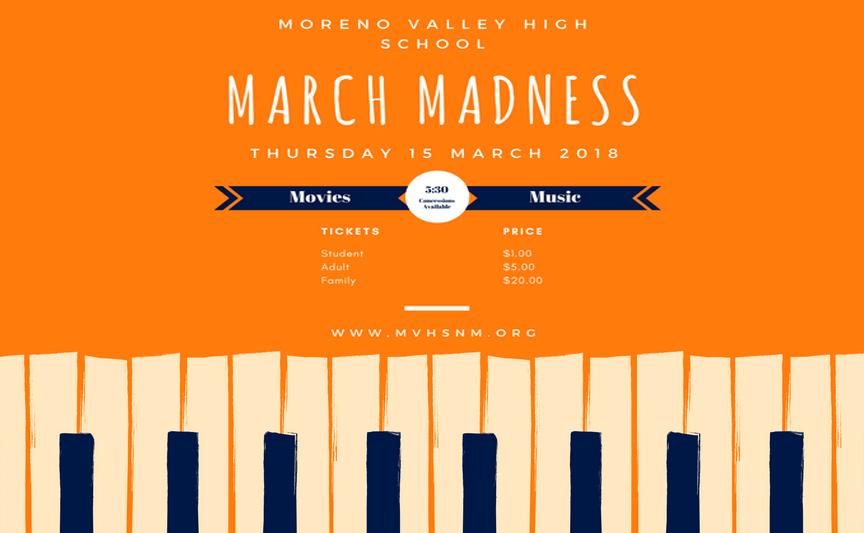 March Madness original flyer
