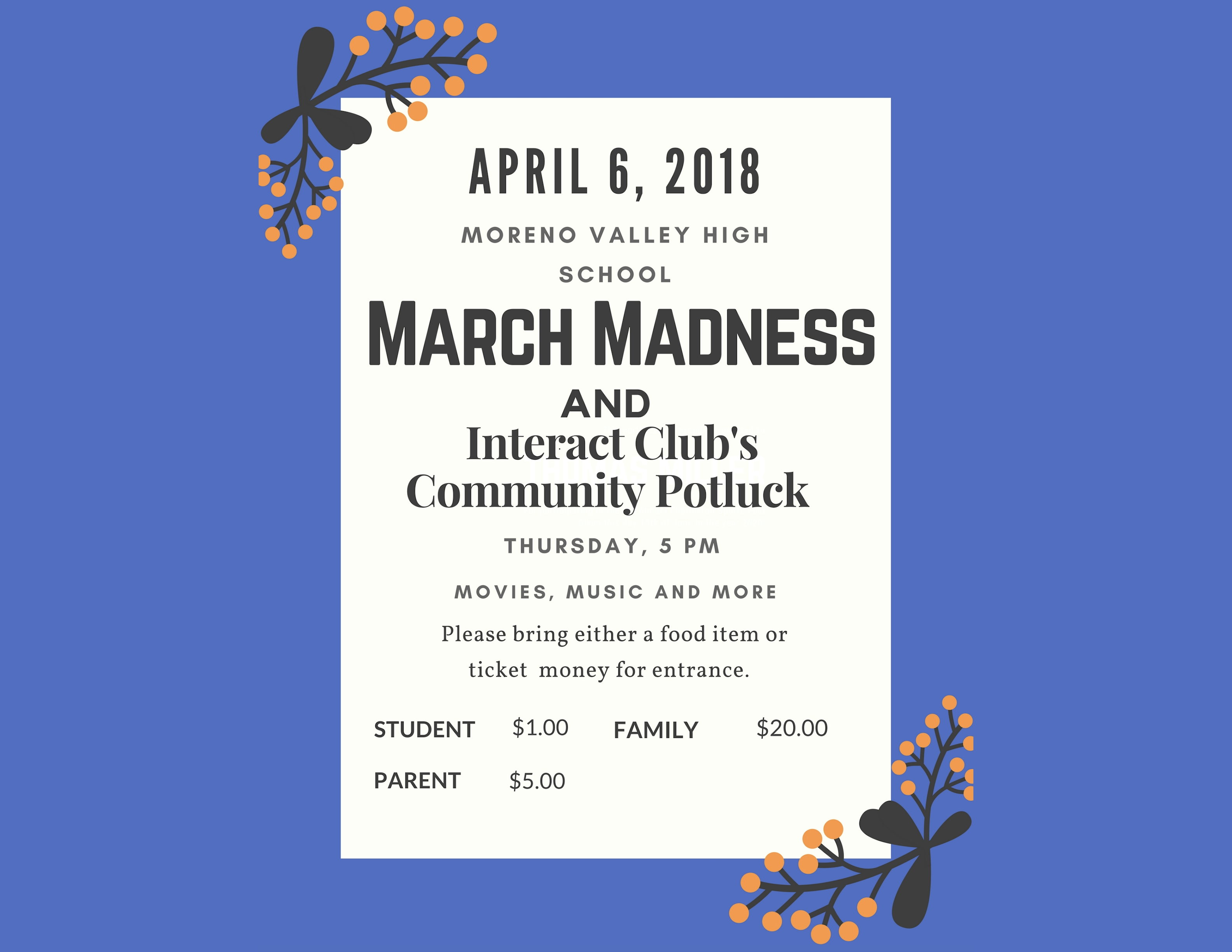 march madness flyer